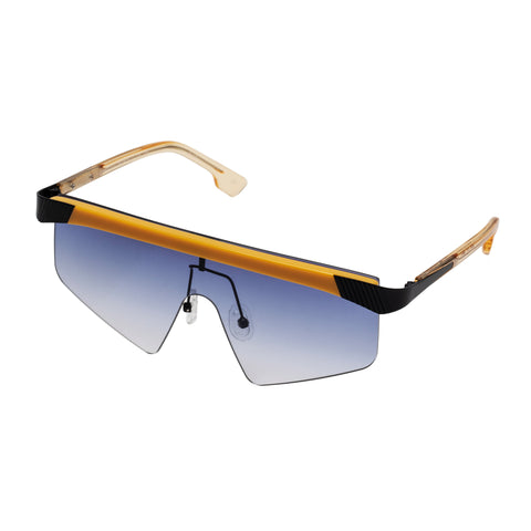 Le Specs Uni-sex Engineer Yellow Shield Sunglasses