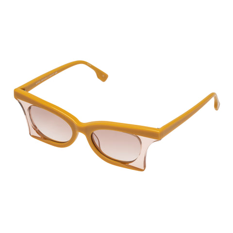 Le Specs Female Nitro Yellow Cat-eye Sunglasses