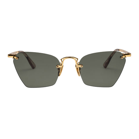 Le Specs Female Pit Stop Gold Cat-eye Sunglasses
