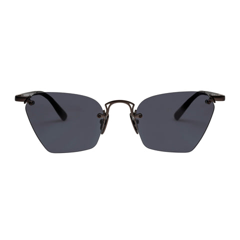Le Specs Female Pit Stop Black Cat-eye Sunglasses