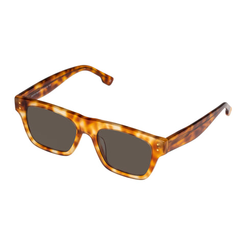 Le Specs Uni-sex Motif Tort Modern Rectangle Sunglasses