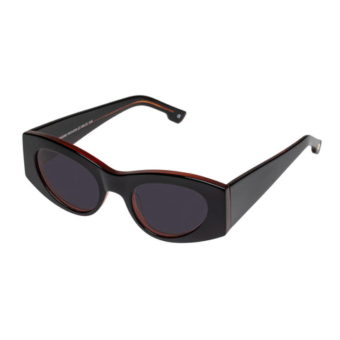 Le Specs Female Extempore Black Cat-eye Sunglasses