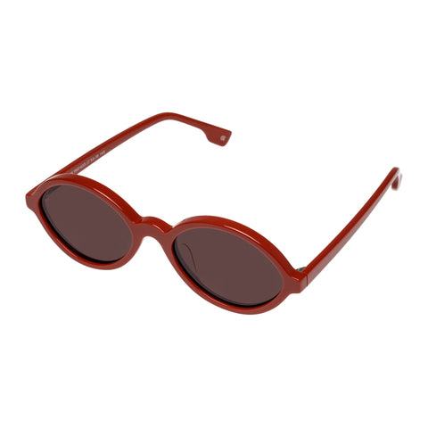 Le Specs Female Impromtus Red Oval Sunglasses