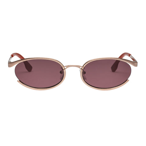 Le Specs Female Tres Solo Rose Oval Sunglasses
