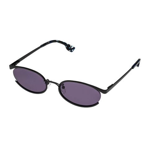 Le Specs Female Tres Solo Black Oval Sunglasses