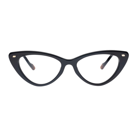 Le Specs Female Heart On Black Cat-eye Optical Frames