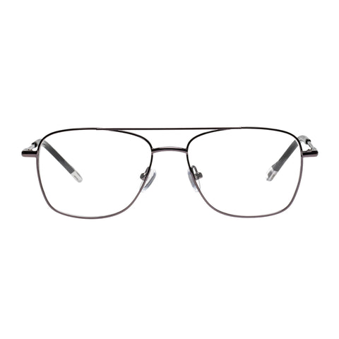 Le Specs Male Wilderness Gunmetal Aviator Optical Frames