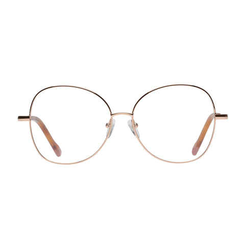 Le Specs Female Grand Entrance Rose Round Optical Frames