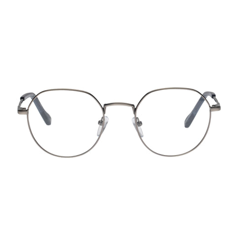 Le Specs Uni-sex Notoriety Gunmetal Oval Optical Frames