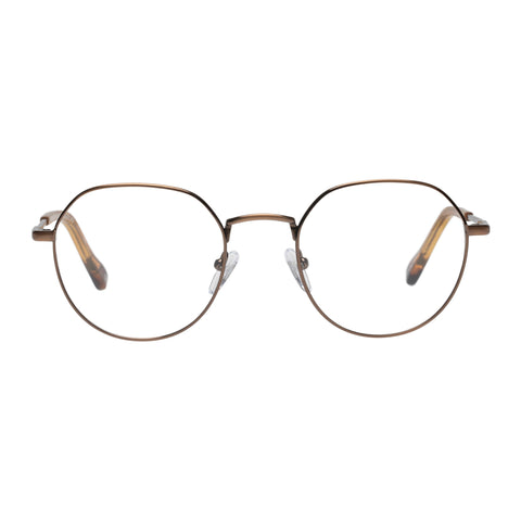 Le Specs Uni-sex Notoriety Bronze Oval Optical Frames