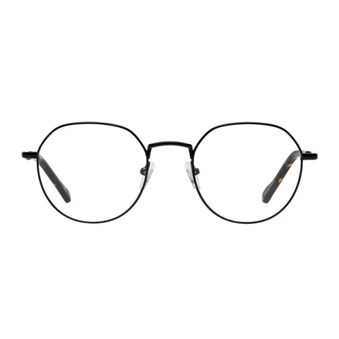Le Specs Uni-sex Notoriety Black Oval Optical Frames