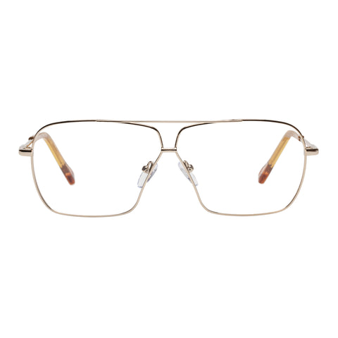 Le Specs Uni-sex Vice Gold Aviator Optical Frames