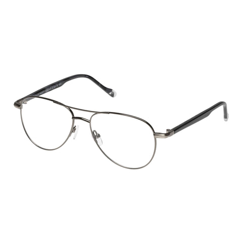 Le Specs Uni-sex House Party Gunmetal Aviator Optical Frames