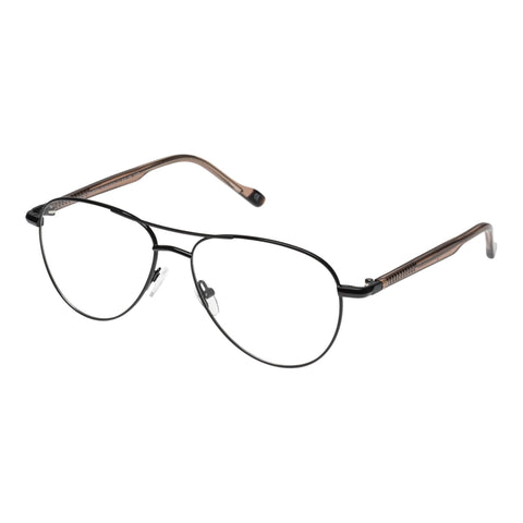 Le Specs Uni-sex House Party Black Aviator Optical Frames