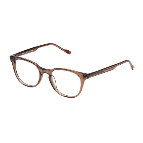 Le Specs Female Believer Tan Modern Rectangle Optical Frames