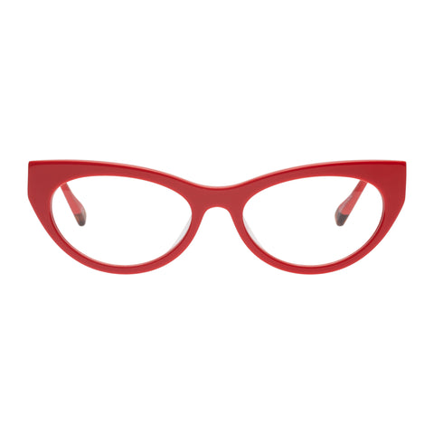 Le Specs Female Bunny Hop Red Cat-eye Optical Frames