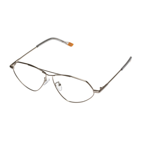 Le Specs Uni-sex Psyche Silver Aviator Optical Frames