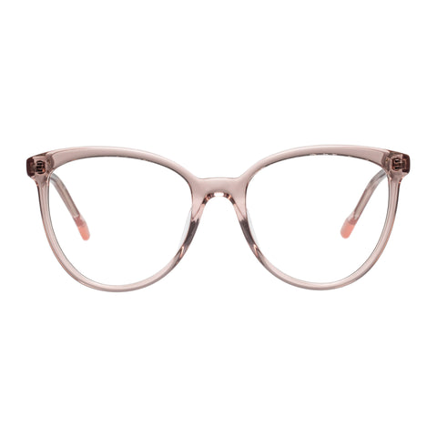 Le Specs Female Piece Of Pizzazz Tan Cat-eye Optical Frames
