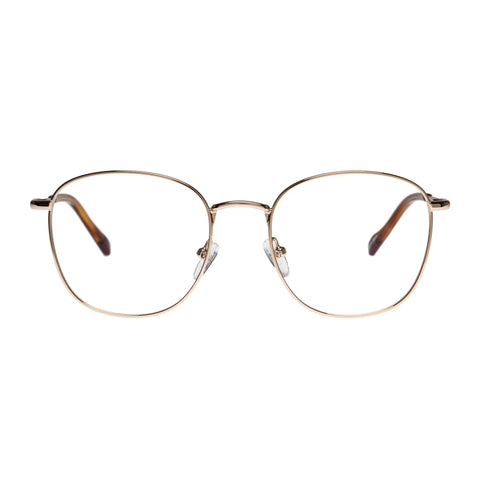 Le Specs Female Atlas Gold Round Optical Frames