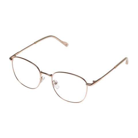 Le Specs Female Atlas Rose Round Optical Frames