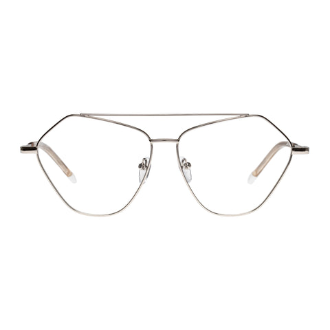 Le Specs Uni-sex Dweller (opt) Silver Aviator Optical Frames