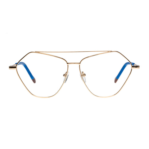 Le Specs Uni-sex Dweller (opt) Gold Aviator Optical Frames