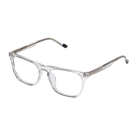 Le Specs Uni-sex Interstellar Clear Modern Rectangle Optical Frames