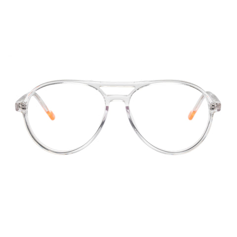 Le Specs Uni-sex Planetary Clear Aviator Optical Frames
