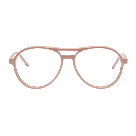 Le Specs Uni-sex Planetary Pink Aviator Optical Frames
