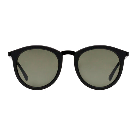 Le Specs Uni-sex No Smirking Black Round Sunglasses