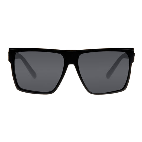 Le Specs Male Dirty Magic Black Modern Rectangle Sunglasses