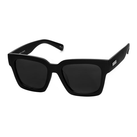 Le Specs Male Weekend Riot Black Modern Rectangle Sunglasses