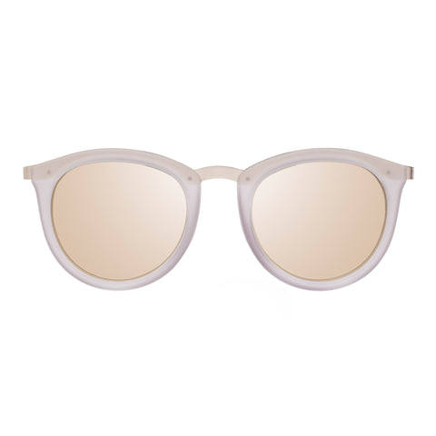 Le Specs Female No Smirking Grey Round Sunglasses