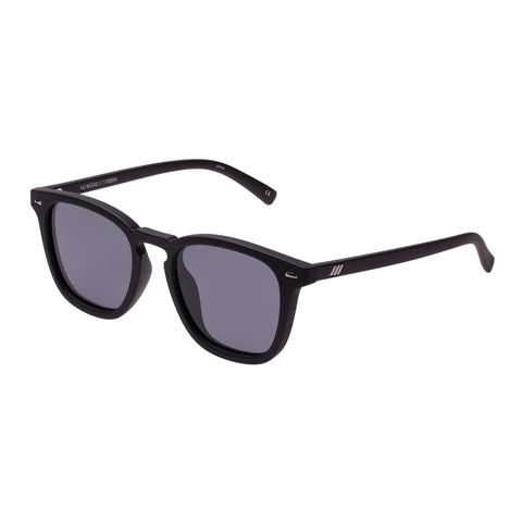 Le Specs Male No Biggie Black Modern Rectangle Sunglasses
