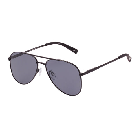 Le Specs Uni-sex Kingdom Black Aviator Sunglasses