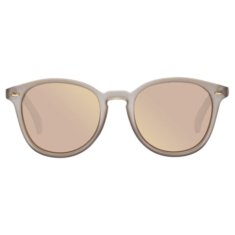 Le Specs Uni-sex Bandwagon Tan Round Sunglasses