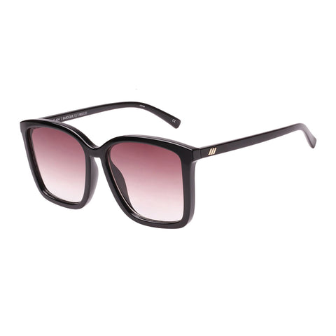 Le Specs Female It Aint Baroque Black Square Sunglasses