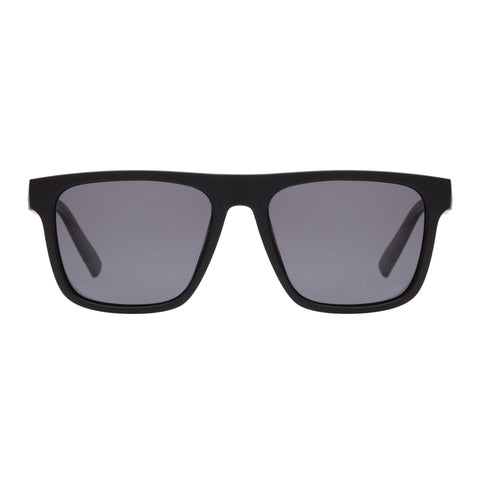 Le Specs Male The Boss Black Modern Rectangle Sunglasses
