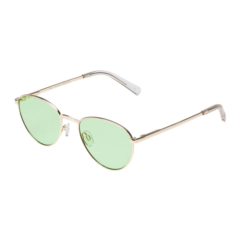 Le Specs Uni-sex Hot Stuff Ltd Edt Gold Oval Sunglasses