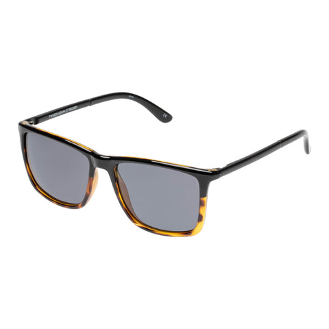 Le Specs Male Tweedledum Black Modern Rectangle Sunglasses