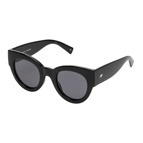 Le Specs Female Matriarch Black Cat-eye Sunglasses