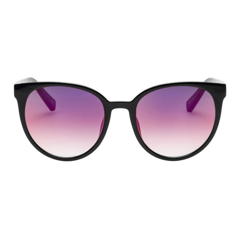 Le Specs Female Armada Black Round Sunglasses