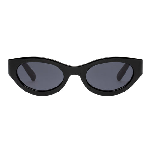Le Specs Uni-sex Body Bumpin Black Wrap Fashion Sunglasses