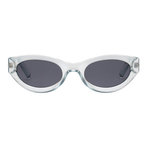 Le Specs Female Body Bumpin Grey Wrap Fashion Sunglasses