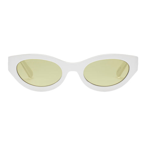 Le Specs Uni-sex Body Bumpin White Wrap Fashion Sunglasses
