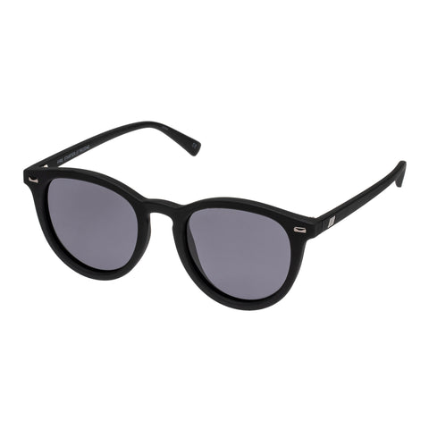 Le Specs Uni-sex Fire Starter Black Round Sunglasses
