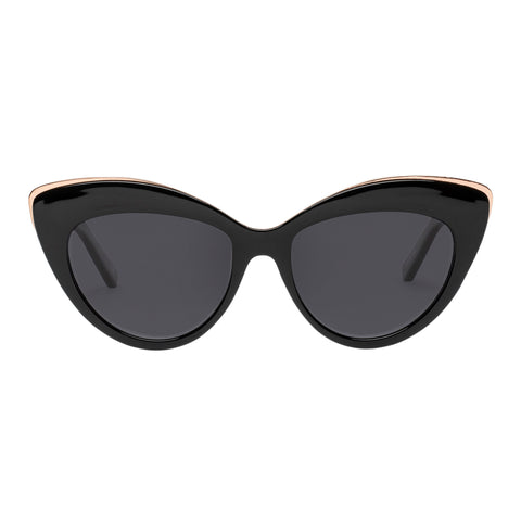 Le Specs Female Beautiful Stranger Black Cat-eye Sunglasses
