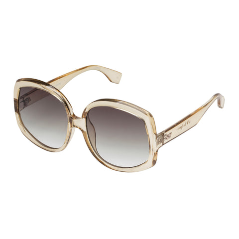 Le Specs Female Illumination Tan Butterfly Sunglasses