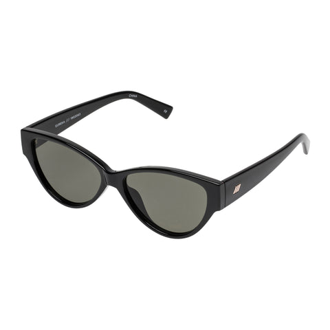 Le Specs Female Eureka Black Cat-eye Sunglasses