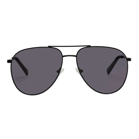 Le Specs Uni-sex Road Trip Black Aviator Sunglasses